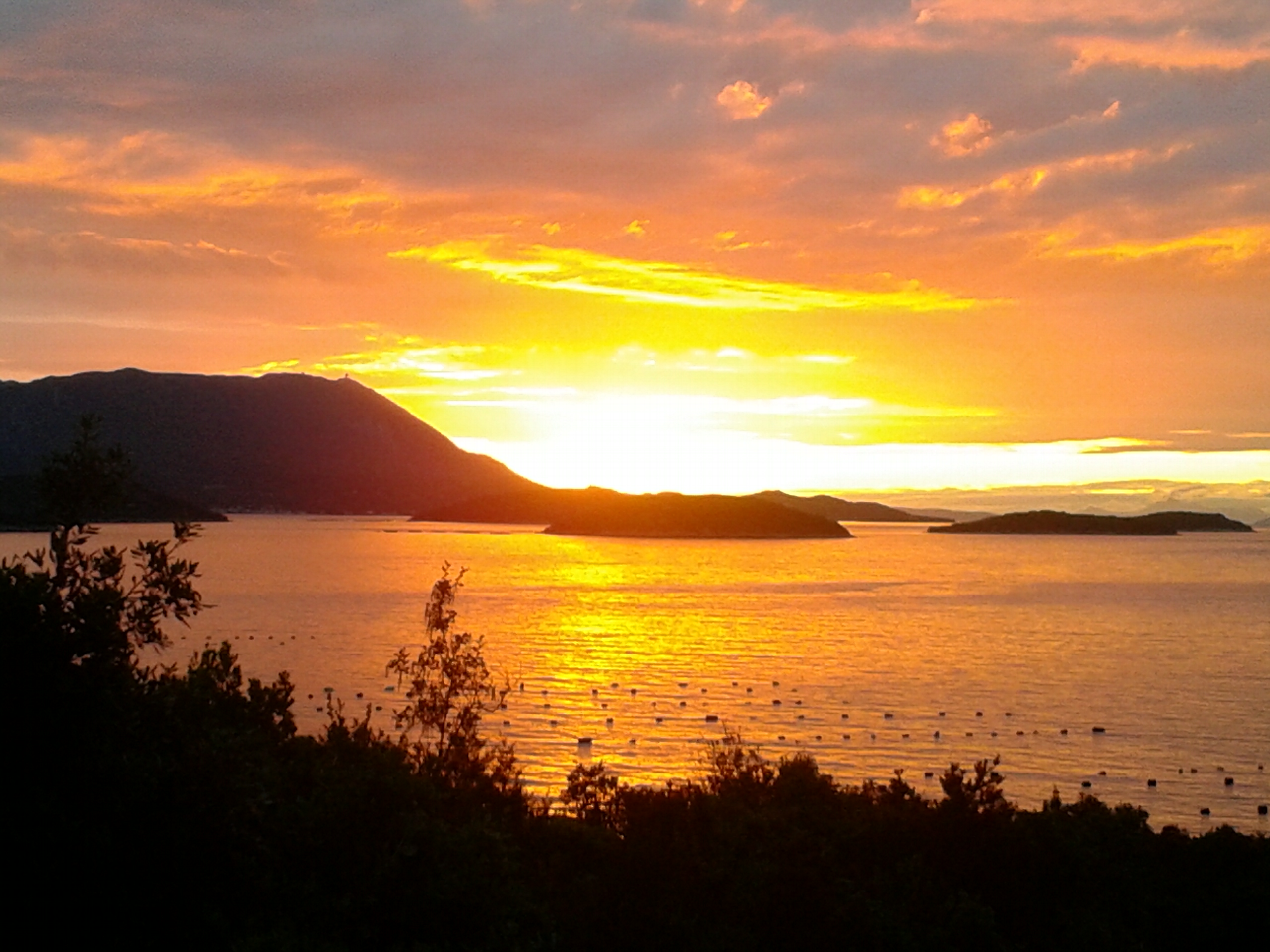západ slunce nad Kunou